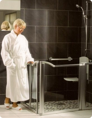 Tile shower estimate castle rock co for Bathroom design for elderly people